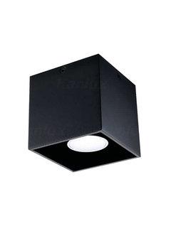 Kanlux LED GU10 plafondspot zwart vierkant - Enkelvoudig voor 1 LED GU10 spot