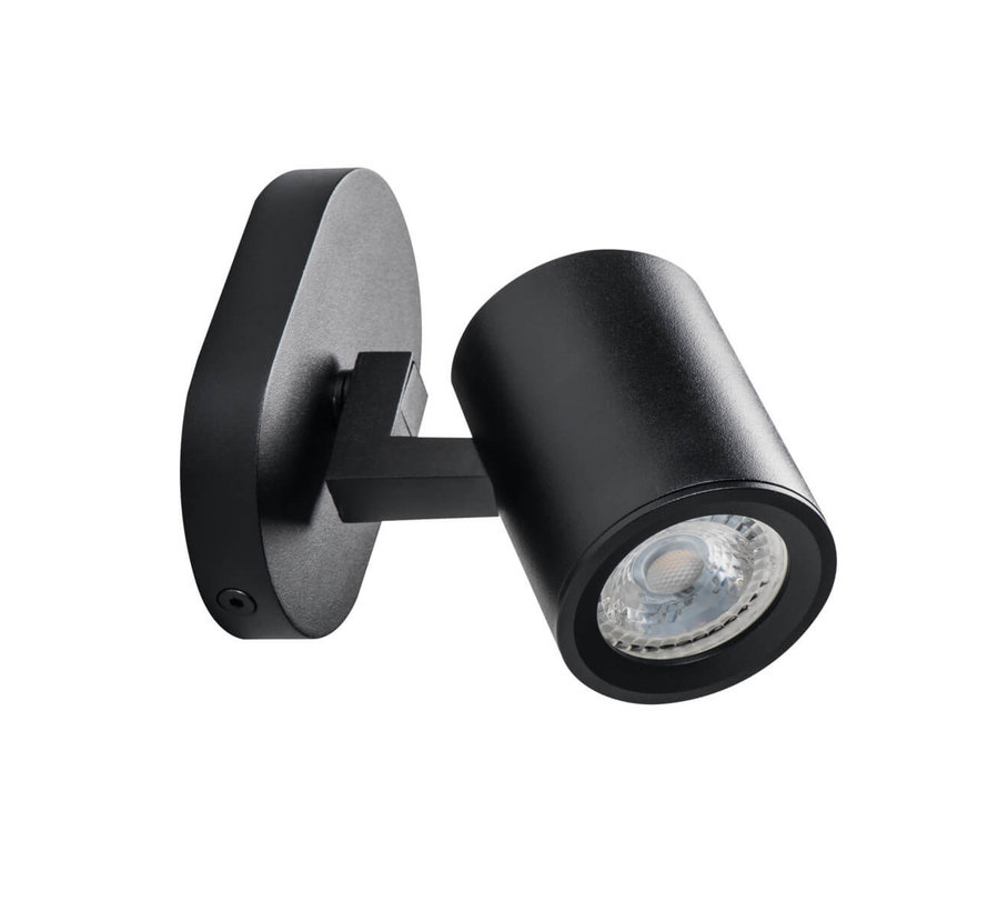 LED GU10 plafond - wandspot zwart - Enkelvoudig voor 1 LED GU10 spot