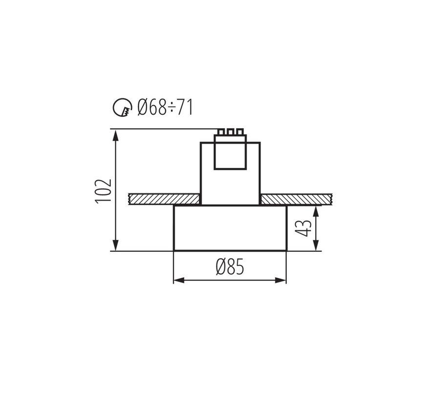 LED GU10 plafondspot wit rond - Enkelvoudig voor 1 LED GU10 spot