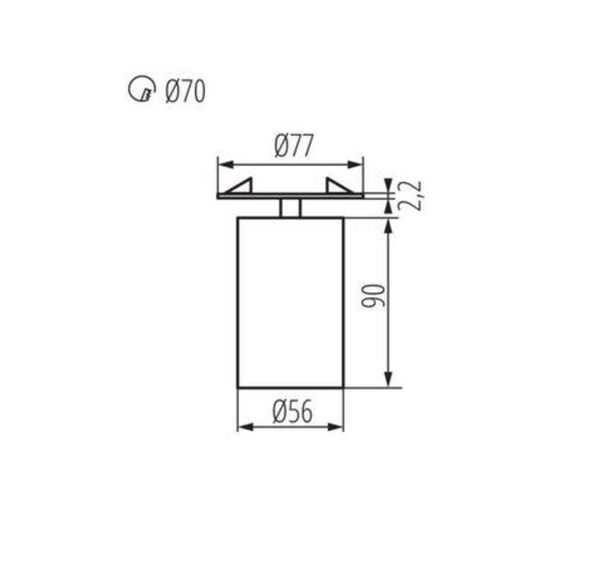 LED GU10 plafondspot richtbaar zwart rond - Enkelvoudig voor 1 LED GU10 spot
