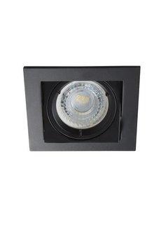 Kanlux LED GU10 inbouwspot zwart vierkant verzonken - zaagmaat 83x83mm buitenmaat 94mm