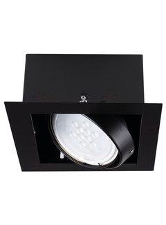 Kanlux LED AR111 inbouwspot zwart vierkant - Enkelvoudig voor 1 LED AR111 spot