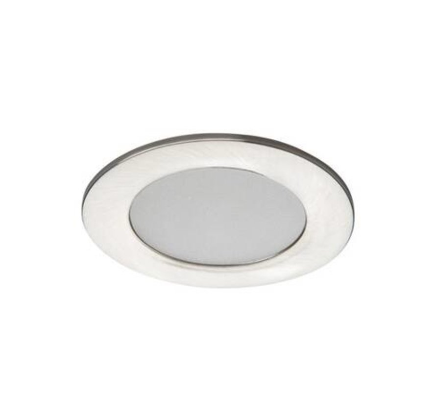 LED inbouwspot satijn nikkel IP44 - 4,5W 3000K warm wit licht - zaagmaat 65mm buitenmaat 83mm