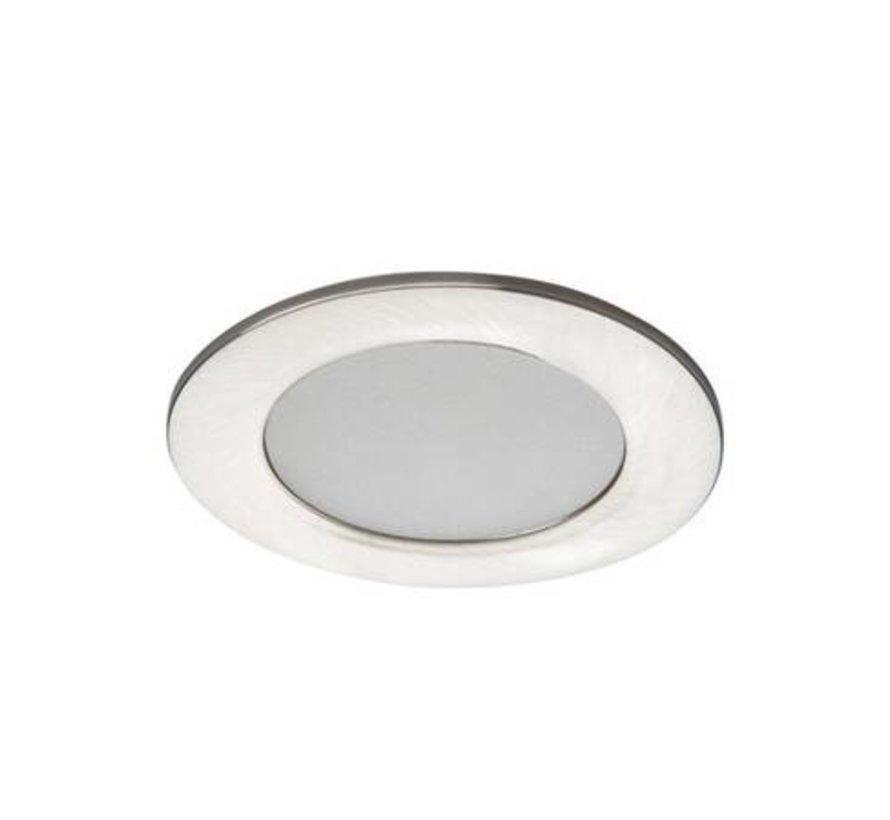 LED inbouwspot satijn nikkel IP44 - 4,5W 4000K helder wit licht - zaagmaat 65mm buitenmaat 83mm