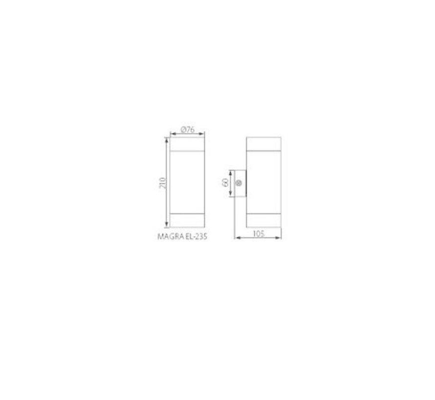 LED wandlamp RVS satijn nikkel IP44 - Dubbelvoudig voor 2 LED GU10 spots