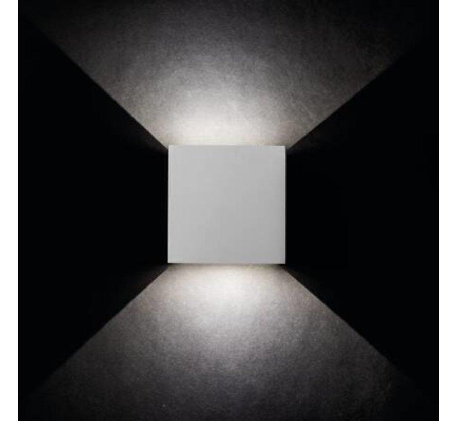 LED wandlamp wit IP54 - 7W 4000K helder wit licht - verstelbare lichtspreiding