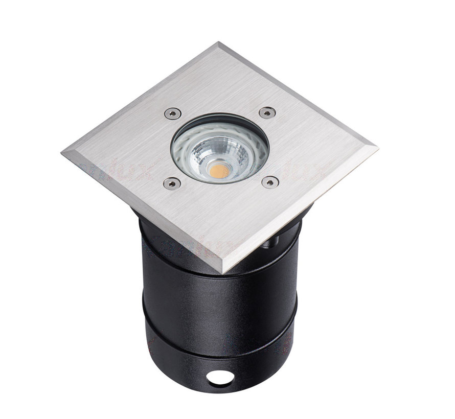 LED GU10 grondspot RVS rond Modern IP67 - Enkelvoudig voor 1 LED GU10 spot