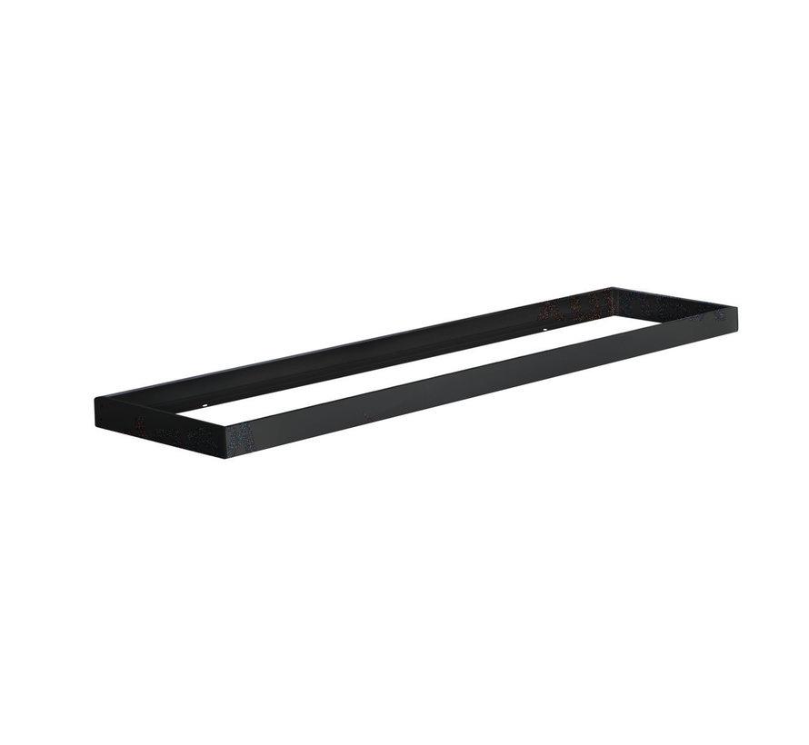 LED paneel opbouw - 120x30cm Framesysteem  - Zwart aluminium - 5cm hoog