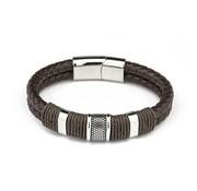Nivo Bold Leren Armband Donkerbruin