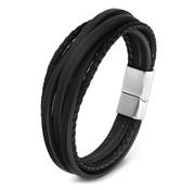 Nivo Multi Leren Armband Zwart
