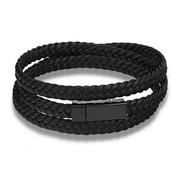 Nivo Leren Wikkelarmband Zwart