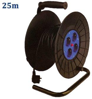 Straus 25m Kabelhaspel 4 Stopcontacten 230V