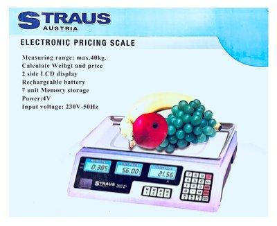 Straus Digitale Horeca Weegschaal met prijs LCD-scherm