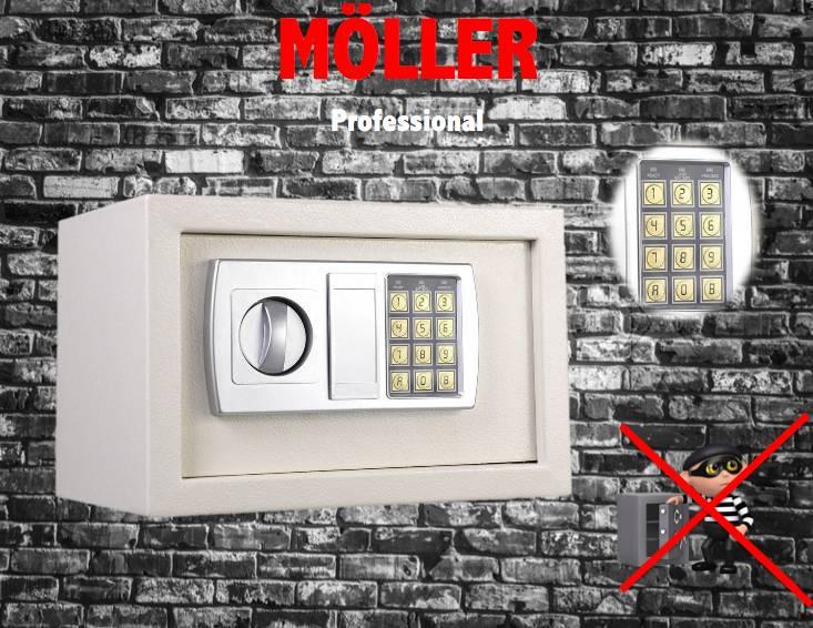 Möller Elektronische Safe Kluis + noodsleutel v.2