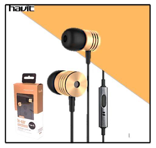 Havit Oortjes in-ear Headphones + GRATIS Oplaadkabel iPhone / Samsung / Android