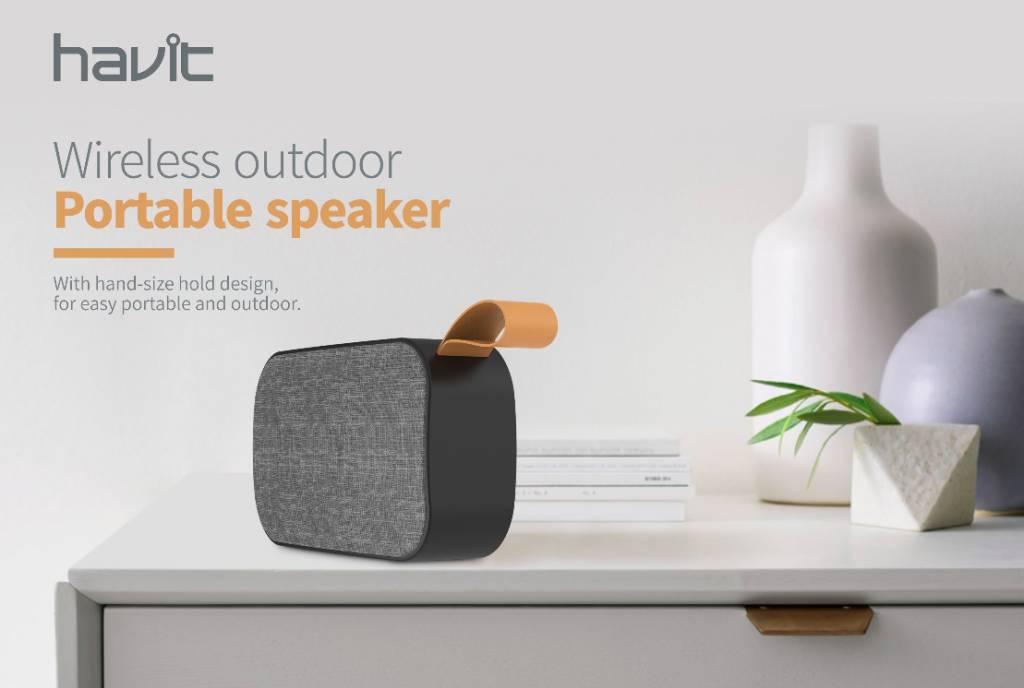 Havit Bluetooth Speaker Draadloos + GRATIS Oplaadkabel iPhone / Samsung / Android