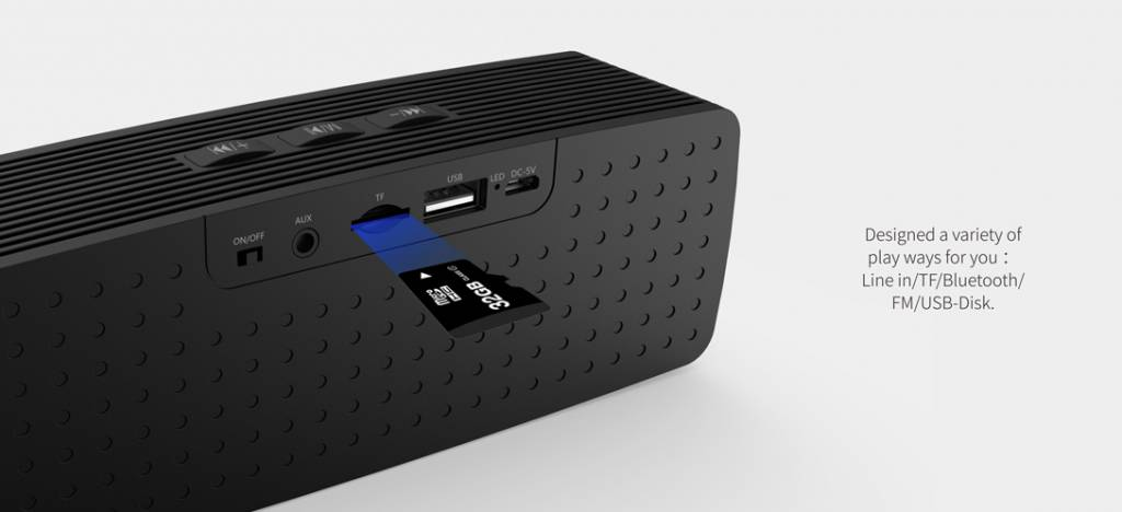 Havit Bluetooth Speaker Draadloos Deluxe + GRATIS Oplaadkabel iPhone / Samsung / Android
