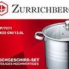 Zurrichberg Kookpan RVS 13,5 liter XL