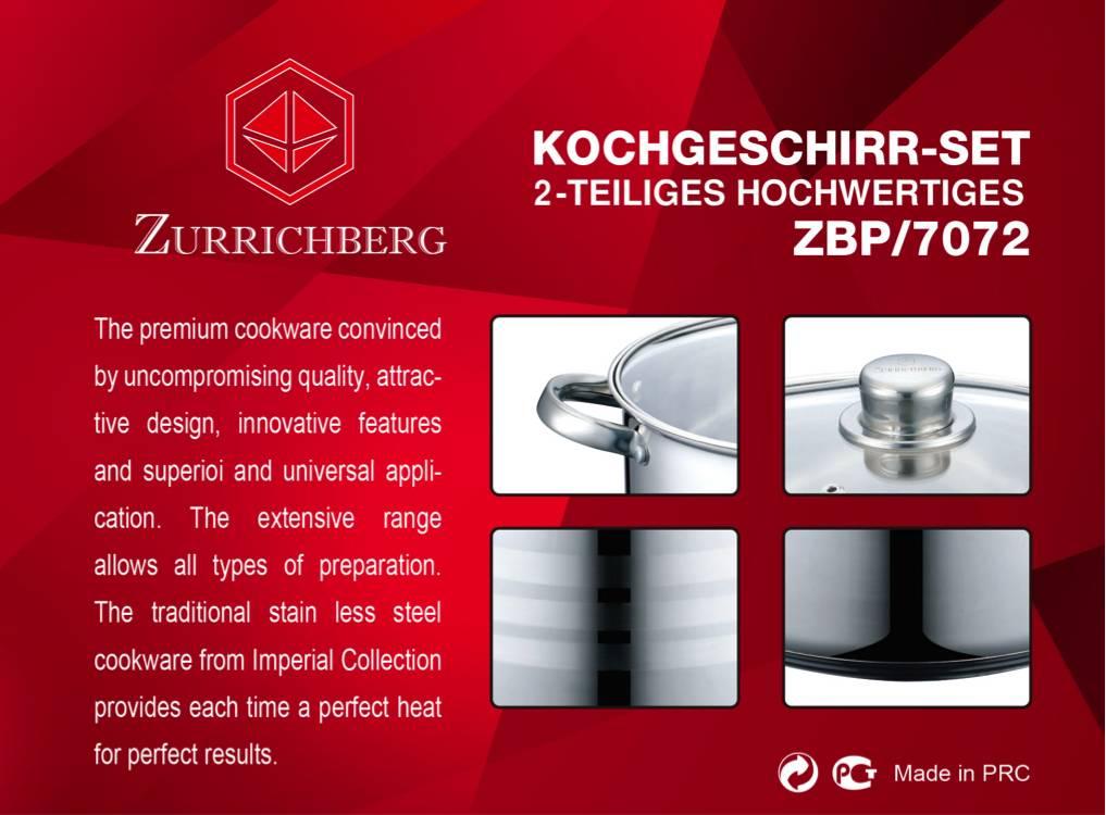 Zurrichberg Kookpan RVS 16,2 liter XXL