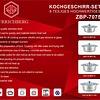 Zurrichberg Pannenset 8-delig RVS DELUXE