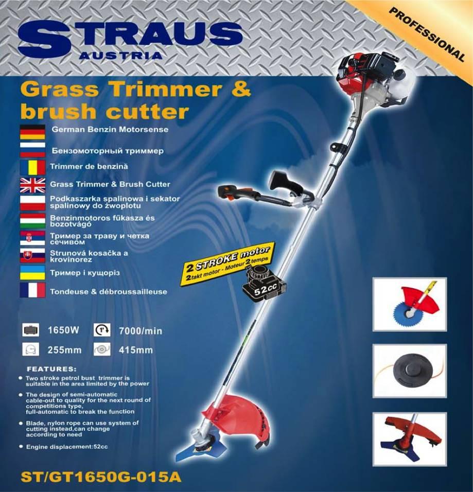 Straus Benzine Bos- en Grastrimmer + 5 accessoires 2,3 pK 52cc