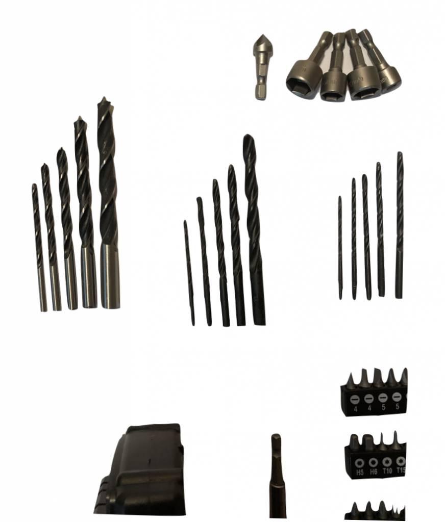 Straus Accuboormachine + Boorbitset met koffer 74-delig 20V 10mm