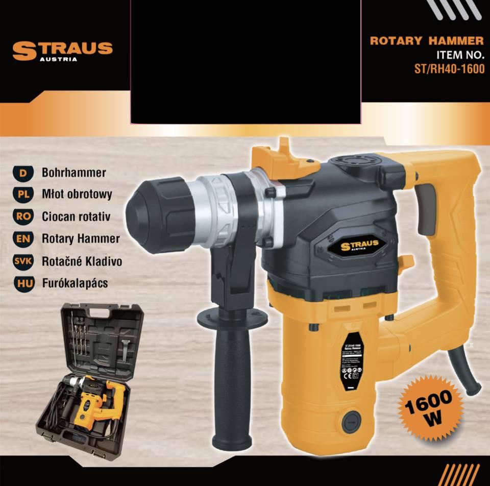 Straus Boorhamer SDS Plus 1600W + Borenset 9-delig