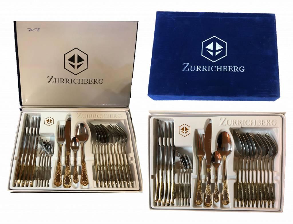 Zurrichberg Pannenset 18-delig + Bestekset 24-delig Bundle combo