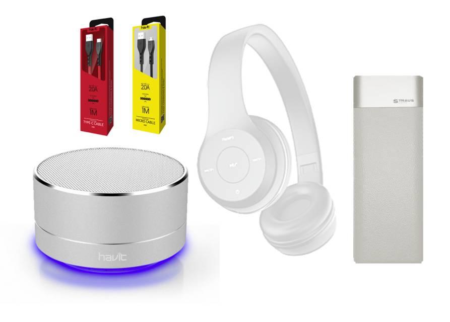 Havit BT Headphones + BT Speaker + Powerbank Combo bundel