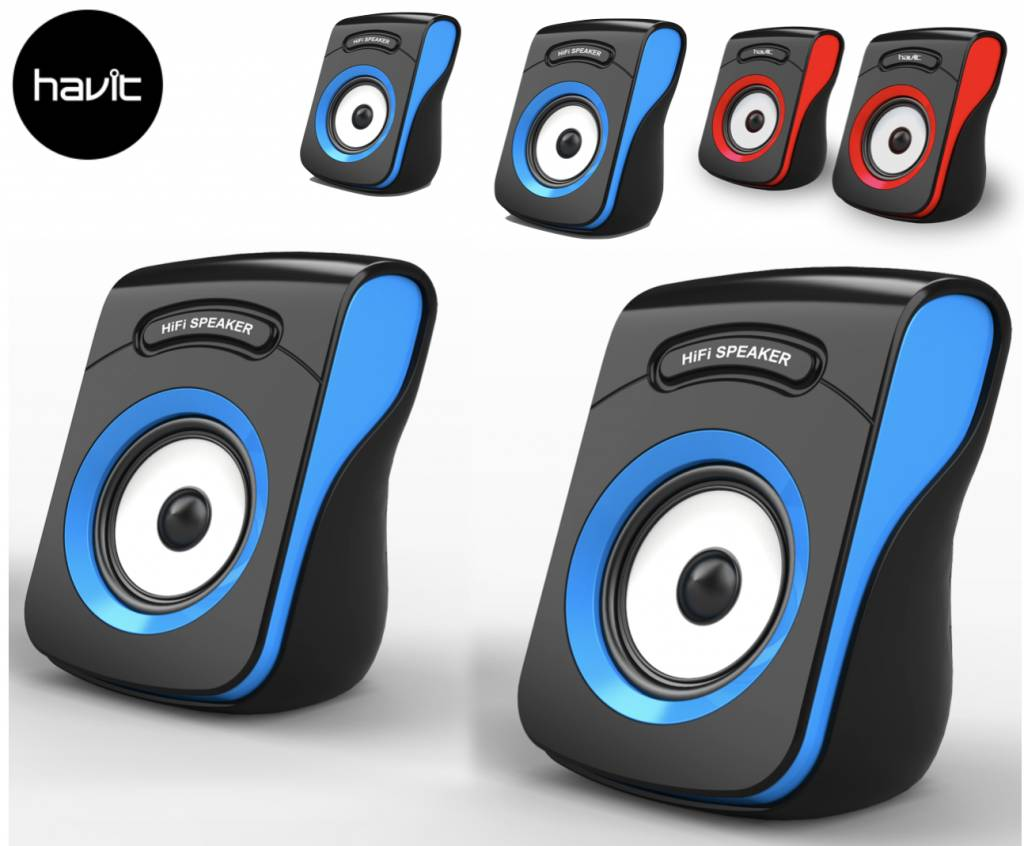 Havit 2.0 USB Speakers Luidsprekers Hi-Fi