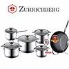 Zurrichberg Pannenset 12-delig met Marmer-coating
