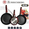 Zurrichberg Koekenpanset Bakpannenset 3-delig met Marmer Coating en Rubberen Handvatten
