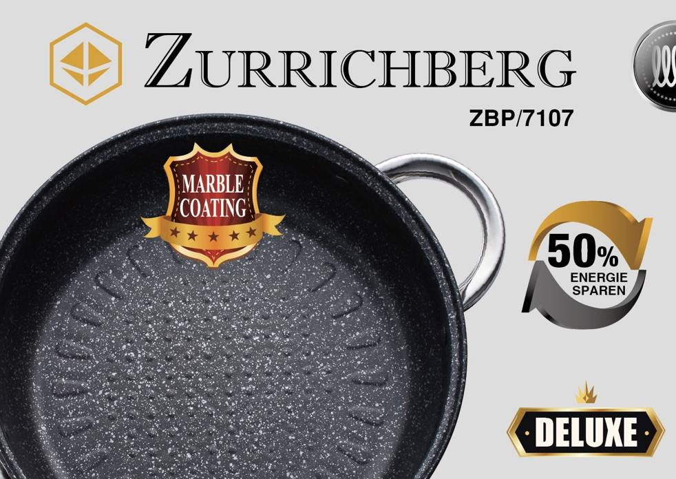 Zurrichberg Pannenset incl. kookgerei 20-delig met Marmer-coating
