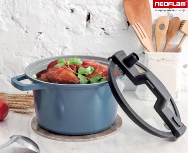 Neoflam Snelkookpan Keramiek 5,4 liter 24cm Xtrema™ met Smart handvat