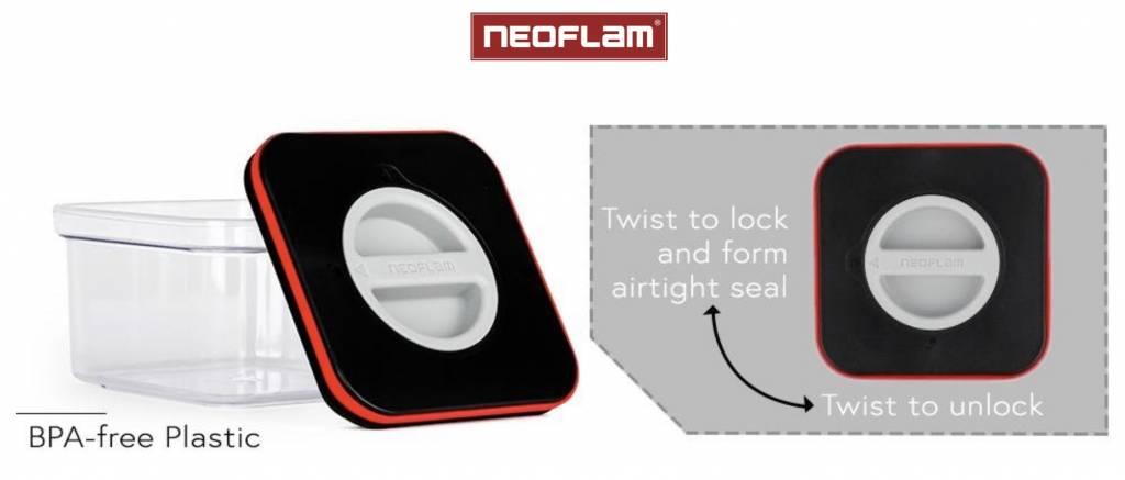 Neoflam Smart Seal Opbergdoosjes Vierkant 3-delig