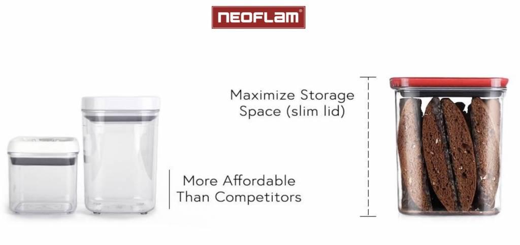 Neoflam Smart Seal Opbergdoosjes Rechthoekig 3-delig