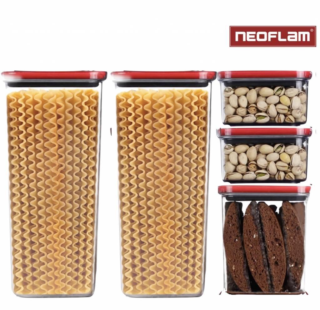 Neoflam Smart Seal Opbergdoosjes Vierkant 5-delig