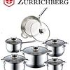 Zurrichberg Pannenset 12-delig RVS