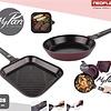 Neoflam Pannenset Grill- en Koekenpan Keramische Coating + Afneembaar handvat 28cm