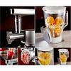 Zurrichberg 5 liter Keukenmachine + Mixer + Gehaktmolen + Blender 4-in-1 1200W met Pulse en 6 snelheden