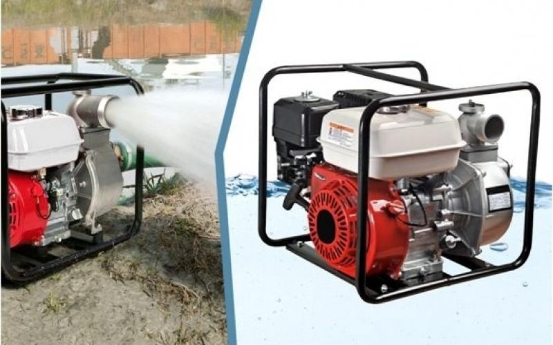 Straus Benzine Waterpomp 196cc 6,5pK 60.000 liter/uur 4-takt