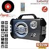PowerBase Stronger Accu Speaker Karaoke 650W Draadloos Bluetooth LED-effect