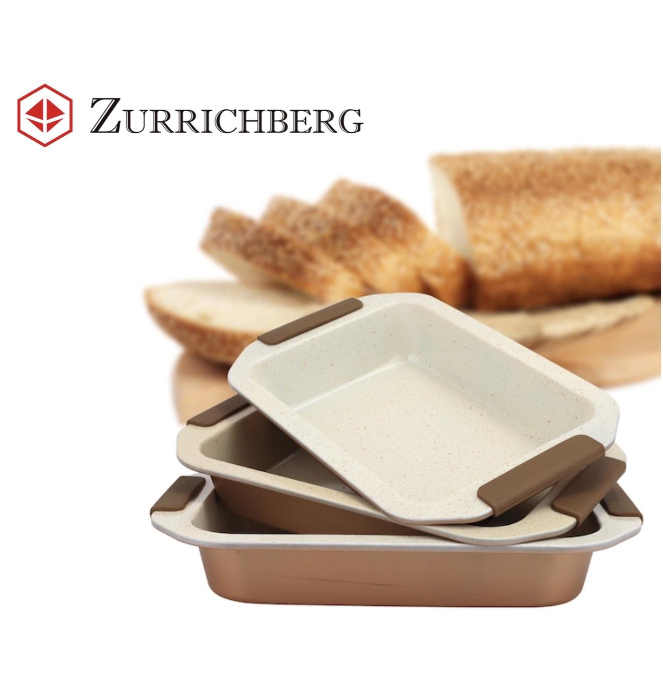 Zurrichberg 3-delige Ovenschaal Keramisch met Siliconen handgrepen
