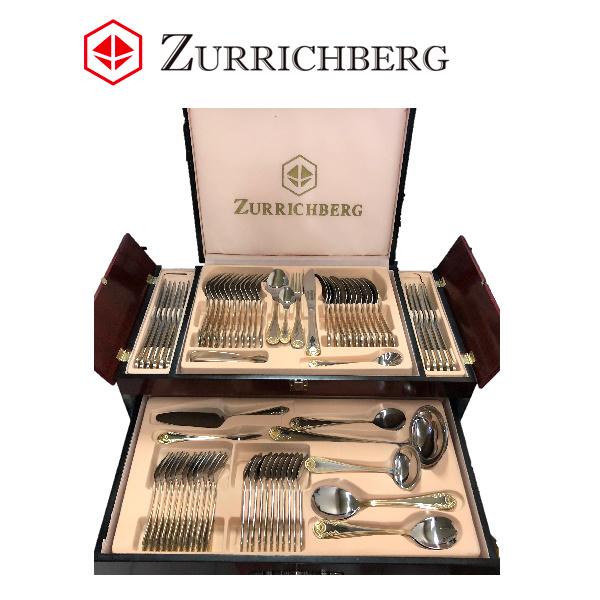 Zurrichberg Bestekset 72-delig, 12-persoons RVS PLATINUM Editie