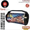PowerBase Stronger Accu Speaker Karaoke 650W Draadloos Bluetooth LED-effect USB FM-radio MicroSD