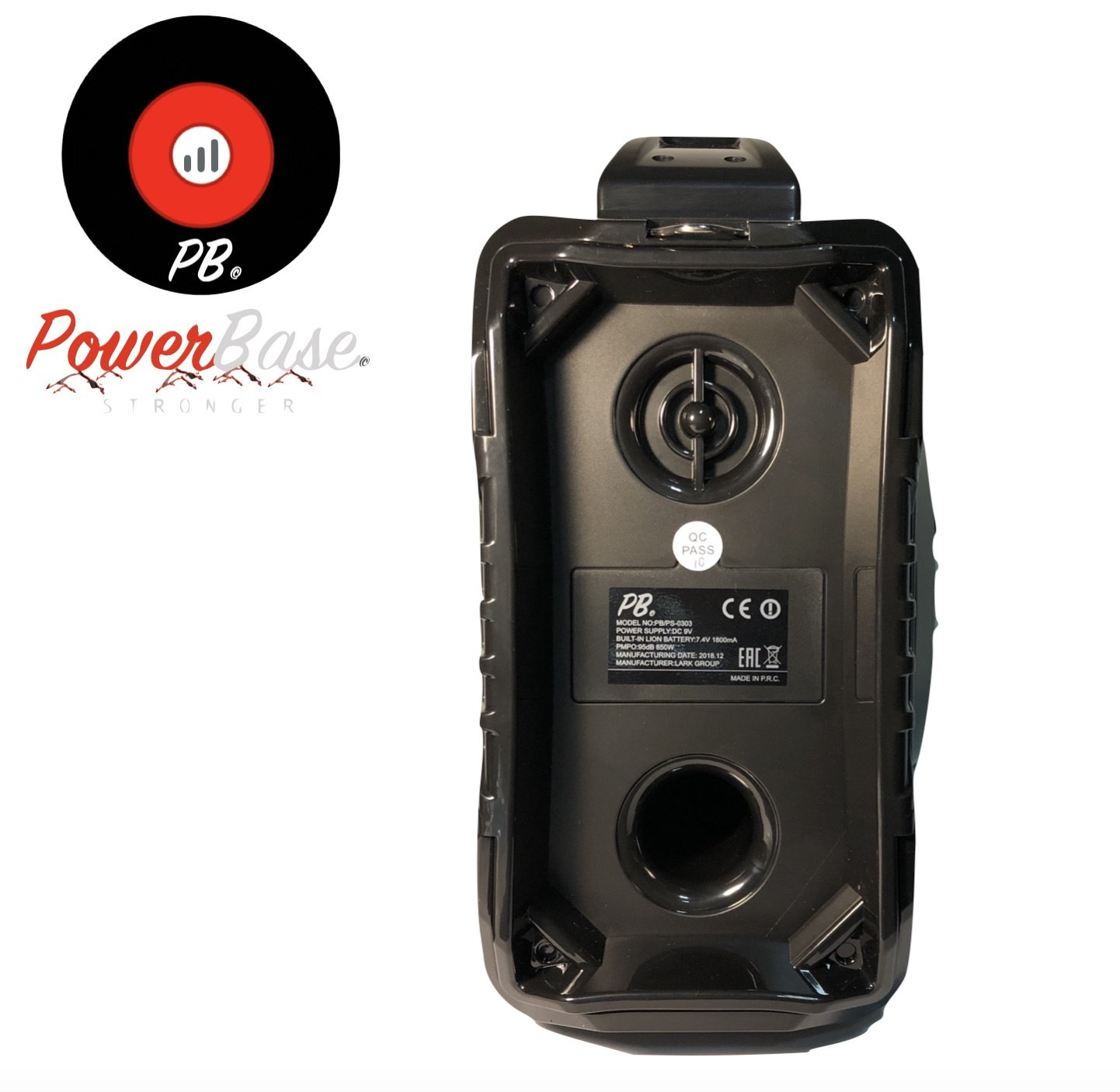 PowerBase Stronger Accu Speaker Karaoke 850W Draadloos Bluetooth LED-effect