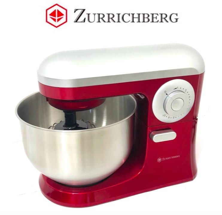 Zurrichberg Keukenmachine 1200W Deeg kneden + 3 accesoires + pulse-stand