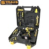 Straus Accuboormachine + Accessoireset met koffer 47-delig 18V 10mm