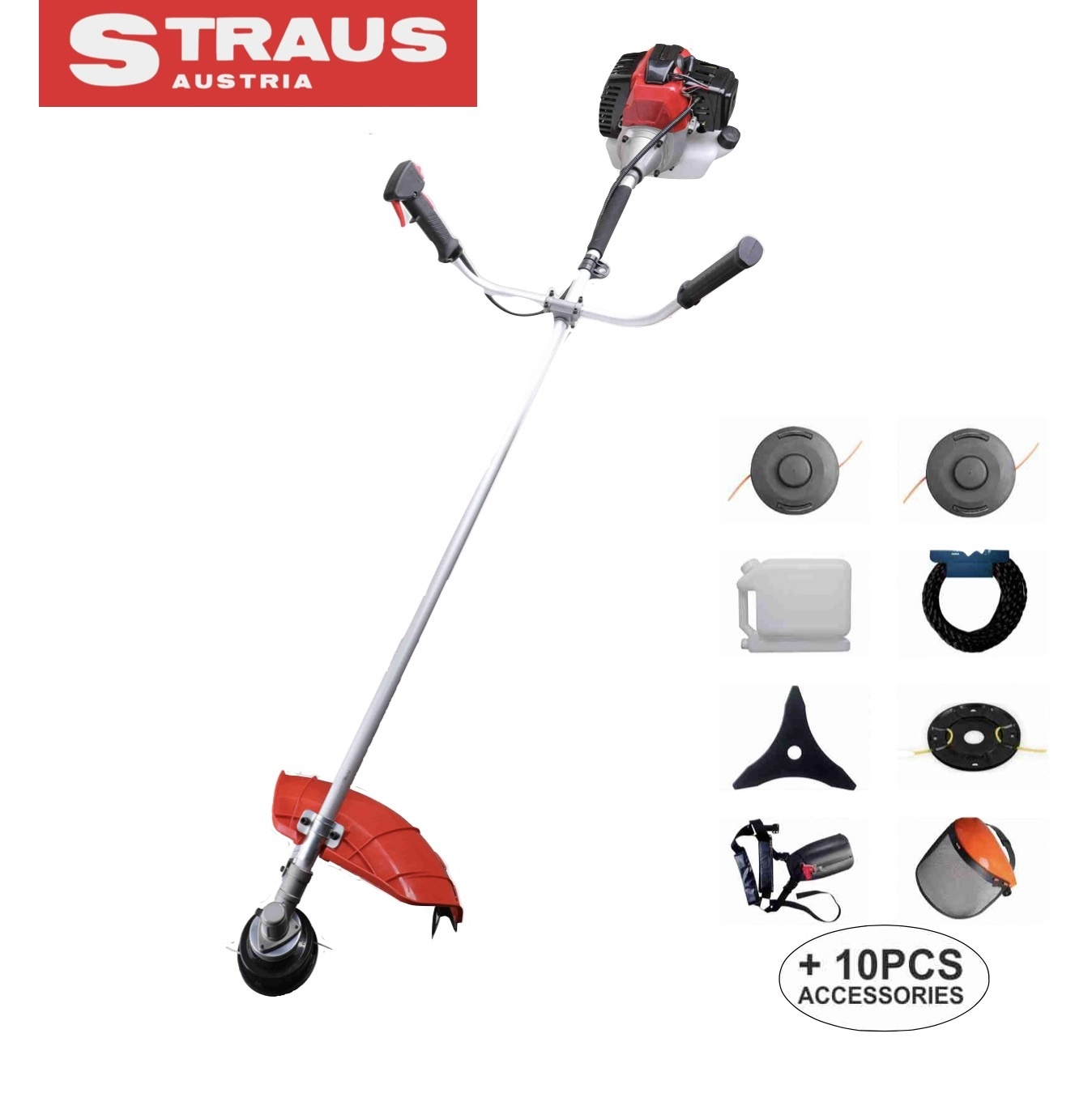 Straus Benzine Bosmaaier 52cc 5,2pK + 10 accessoires