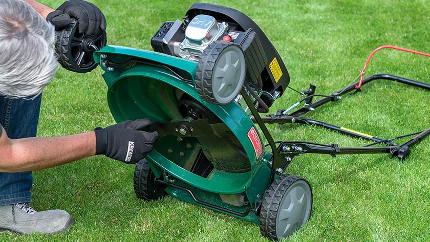 Hoe onderhoud je een benzine grasmaaier?